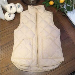 J.Crew Excursion Cream Fall puffer Vest preppy XS